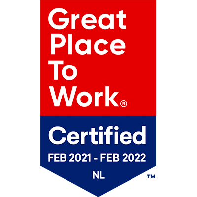 Great Place To Work Certified logo_Februari 2021-22 400x400